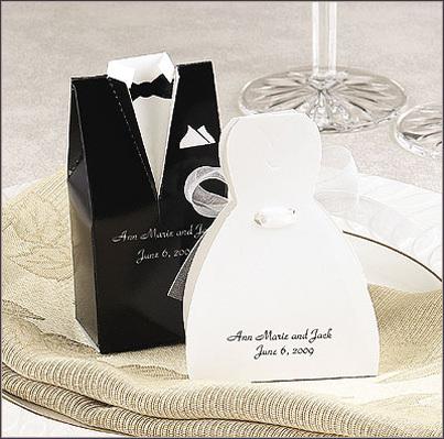 Favors & Gifts, white, black, Favors, Bride, Groom, And, Best little wedding shop