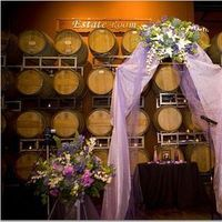 Ceremony, Flowers & Decor, purple, Ceremony Flowers, Flowers, Arch, Palm event center, Purple flowers, Purple ceremony