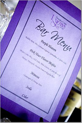 purple, Menus, Purple menu