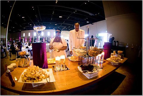 Reception, Flowers & Decor, Chocolate fountain, Palm event center, Purple decor, Purple reception