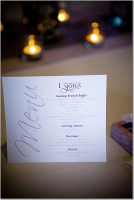 purple, Menu Cards, Menus, Brunch, Purple menu