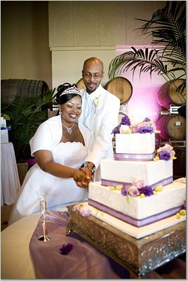 Flowers & Decor, Cakes, purple, cake, Flowers, Palm event center, Purple cake