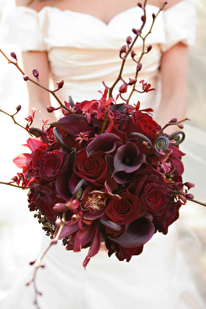 red, Bouquet, In, Fleurs de france, Deep