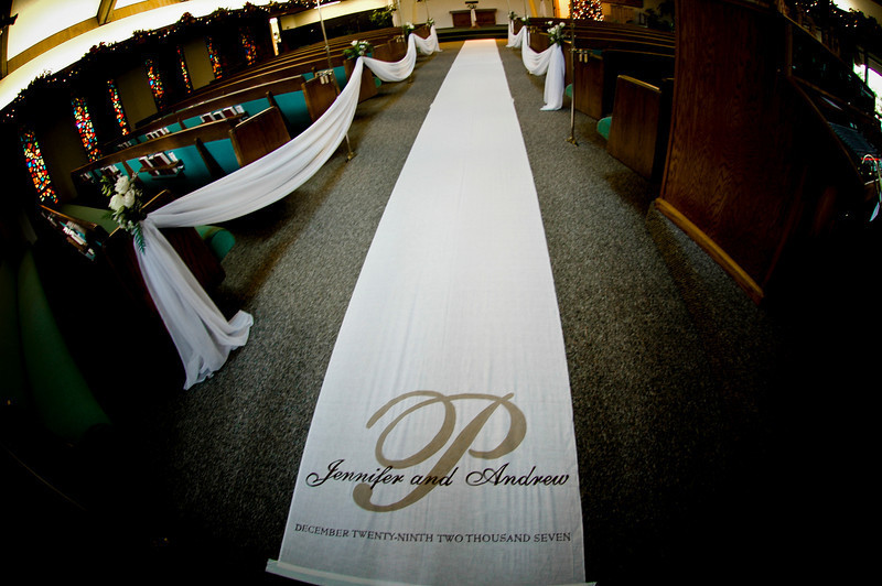 DIY, Monogram, Church, Aisle runner