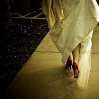 red, Red wedding shoes, Red shoes
