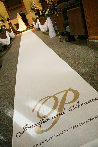 Ceremony, DIY, Flowers & Decor, Monogram, Aisle runner