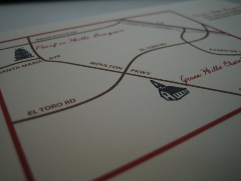 DIY, Stationery, Invitations, Map