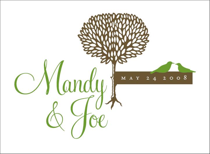 Stationery, green, brown, Invitations, Monogram, Birds