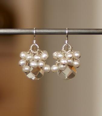 Jewelry, Earrings, Pearls, Crystal, Kris nations