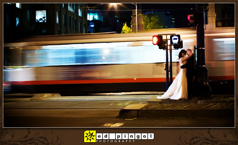 Bride, Groom, And, San, Francisco, Ed pingol photography, Aftershoot, Night