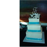 Cakes, cake, Square Wedding Cakes, Square, Gardenia