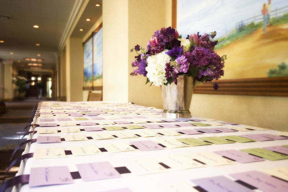 Stationery, purple, Place Cards, Placecards
