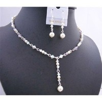 Jewelry, Necklaces, Necklace, Swarovski crystals, Crystal necklace, Bridal jewelry, Fashion jewelry for everyone, Bridal pearl necklace, Bridemaids jewelry, Bridal party jewelry