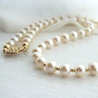 white, Classic, Bride, Pearls, Necklace, Pearl