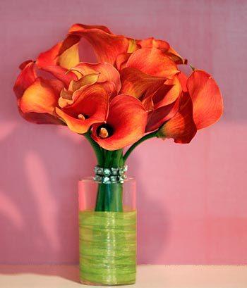 Bouquet, Mango, Calla-lilies