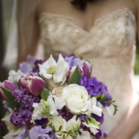 purple, Bride Bouquets, Spring Wedding Flowers & Decor