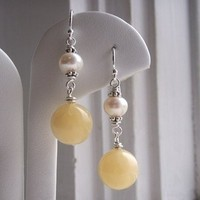 Jewelry, yellow, Earrings, Etsy, Kgarnerdesigns
