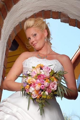 Flowers & Decor, Bride Bouquets, Bride, Flowers, Bouquet, Bridal, Floral, Rancho, Spanish, Exotic, San, Studio nautilus photography, Fresh, Mission, Juan, Capistrano, Capistano, Archway