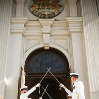 Ceremony, Flowers & Decor, Of, Arch, Military, Tradition, Swords