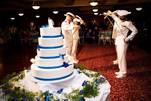 Ceremony, Flowers & Decor, Cakes, cake, Cutting, Tradition, Navy