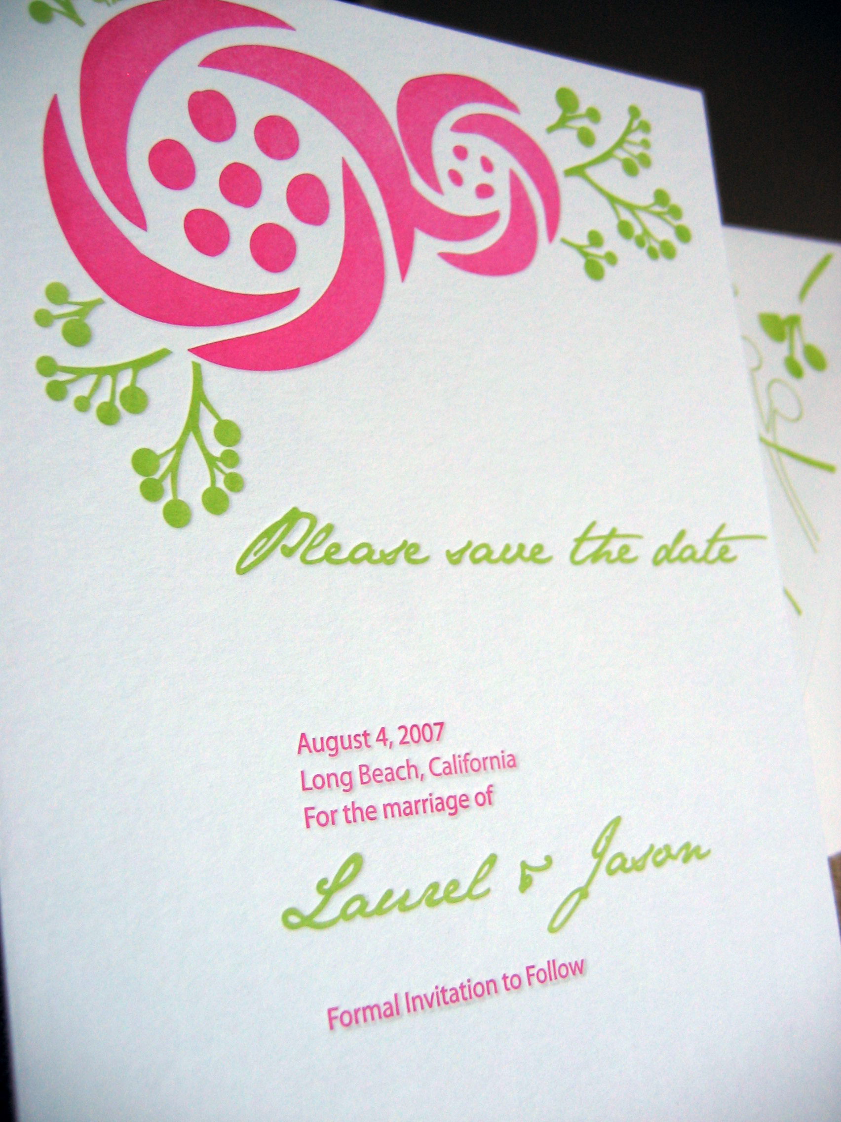 The, Letterpress, Save, Date, Sugar plum invitations