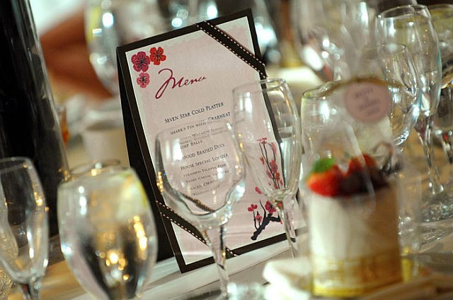 Reception, Flowers & Decor, pink, Menu