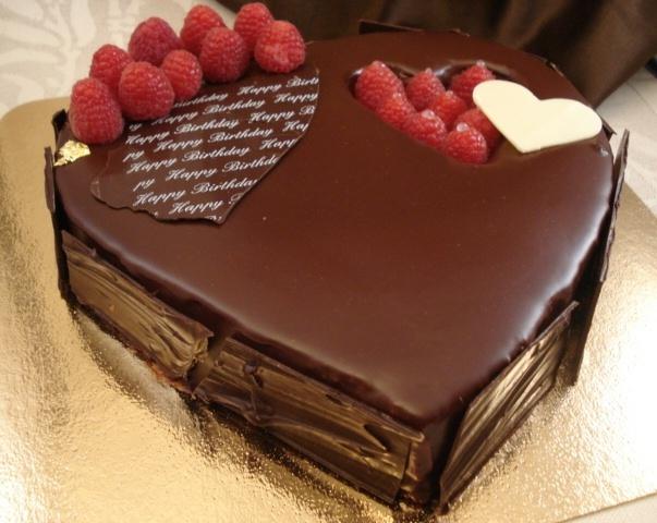Pure Chocolate Cake Images : Framboise Heart Valrhona 55 Dark Chocolate cake and ...
