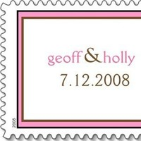 Bride, Groom, Date, Names, Personalized, Everafter stamps