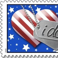 white, red, blue, Wedding, Dog, Military, Tag, Stars, Stripes, Everafter stamps, Flag