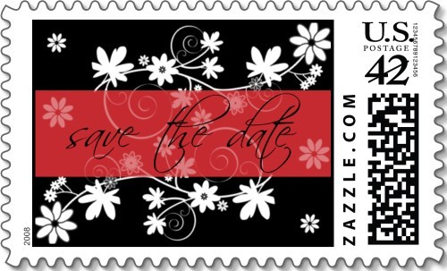 Flowers & Decor, red, black, Flowers, The, Save, Date, Everafter stamps