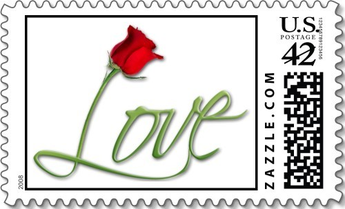 Flowers & Decor, Roses, Flower, Wedding, Love, Stamp, Everafter stamps, Postage, Everafterstamps
