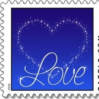 blue, Love, Everafter stamps, Heart, Star