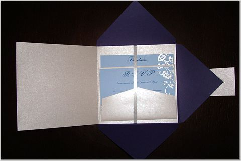 silver, Invite, Navy, Paper monkey