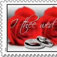 Flowers & Decor, Roses, Flower, Rings, Wedding, I, Bands, Stamp, Everafter stamps, Postage, Everafterstamps, Wed, Thee