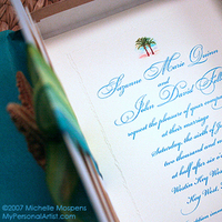 Stationery, Destinations, blue, Beach, Invitations, Wedding, Destination, Artist, My, Personal
