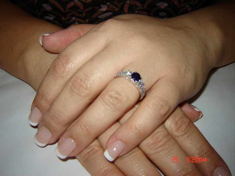 Ring, Engagement, Sapphire