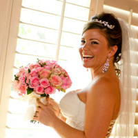 Flowers & Decor, pink, Bride Bouquets, Bride, Flowers, Happy, Laughter