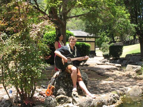 Ceremony, Flowers & Decor, Wedding, Musicians, Music, Sunset hawaii weddings, Acoustic