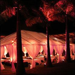 Reception, Flowers & Decor, Beach, Beach Wedding Flowers & Decor, Wedding, Hawaiian, Tents, Sunset hawaii weddings, Caterers
