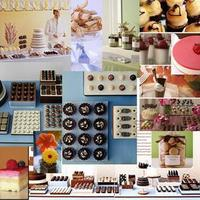 Inspiration, Cakes, pink, blue, cake, Dessert, Table, Board, Desserts