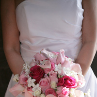 pink, Stephanotis, Bouquet, Calla, Rose, Lily, Hot
