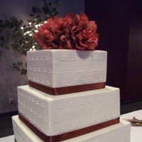 Cakes, cake, Ribbon Wedding Cakes, Wedding, Buttercream, Ribbon, Dots, Creative cakes and cookies, Rust, Swiss