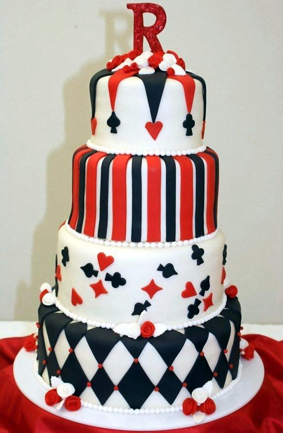 Cakes, white, red, black, cake, Wedding, Fondant, Las, Vegas, Creative cakes and cookies
