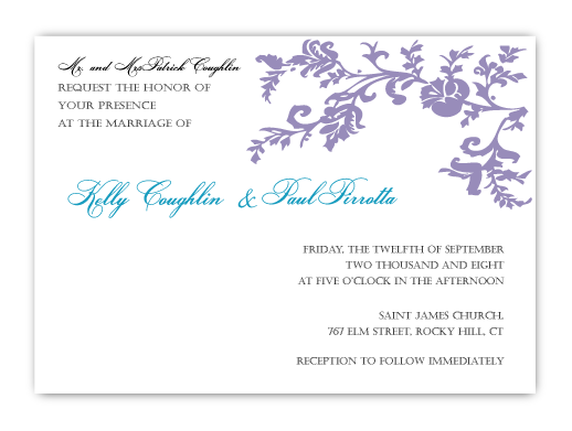 Flowers & Decor, Stationery, purple, invitation, Modern, Modern Wedding Invitations, Invitations, Flower, Wedding, Custom, Unique, Personalized, Buzybeepress