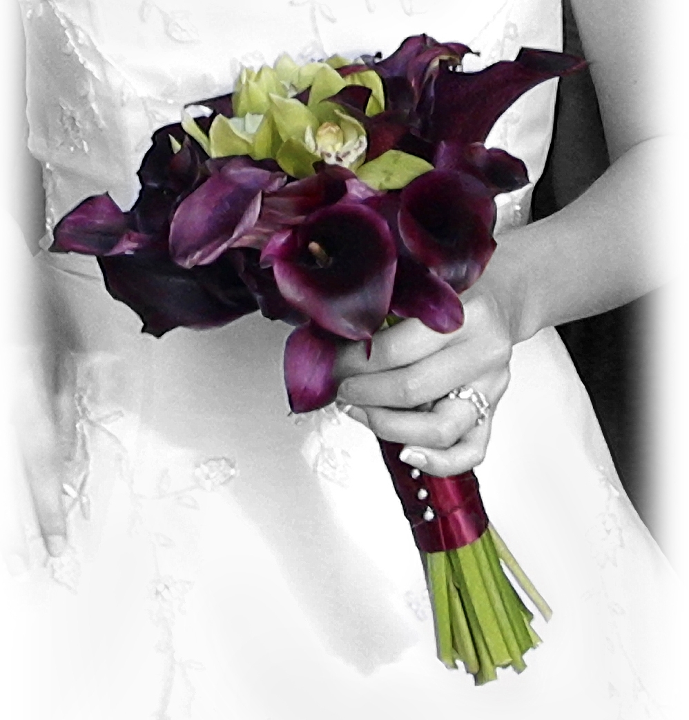 green, Bouquet, Orchid, Wedding, Calla, Lily, Cymbidium, Florunique