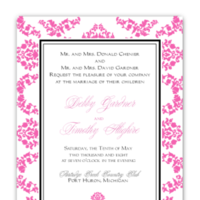 Stationery, pink, invitation, Modern Wedding Invitations, Invitations, Wedding, Custom, Unique, Personalized, Buzybeepress