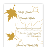 Stationery, invitation, Fall, Modern, Modern Wedding Invitations, Invitations, Wedding, Custom, Unique, Leaf, Personalized, Autumn, Buzybeepress