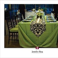 green, black, Table, Setting