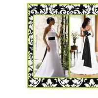 Wedding Dresses, Fashion, white, black, dress, And