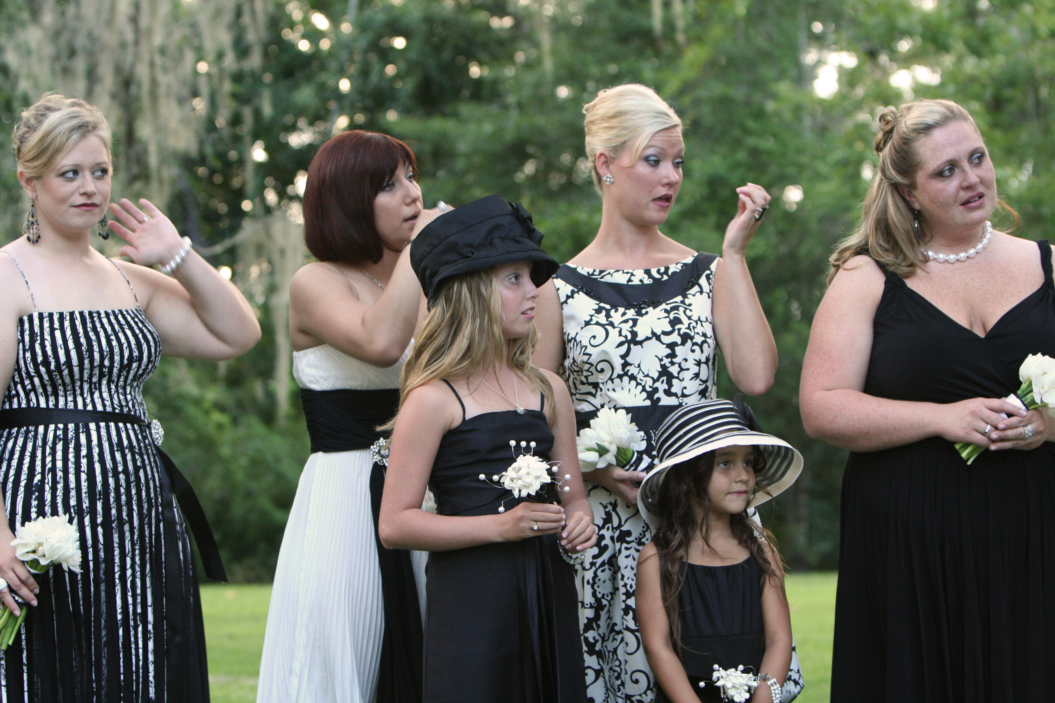 Bridesmaids, Bridesmaids Dresses, Fashion, white, black, And